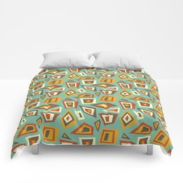 African Abstract Geometric Retro Comforters