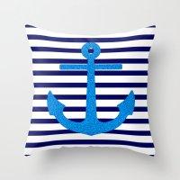 sail Throw Pillows featuring Sail by Mango Tangerine Studio