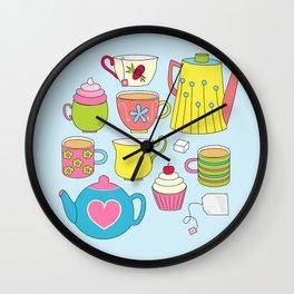 Teapots, cupcakes & more Wall Clock