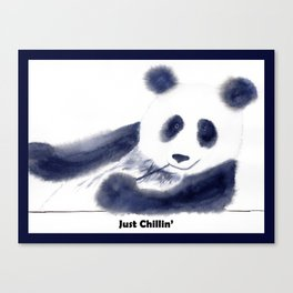 Just Chillin' Whimsical Panda Bear Design Canvas Print