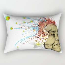 """Gabriela"" of the Kaweskar People - Color Rectangular Pillow"