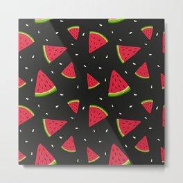 Watermelons in tha dark Metal Print