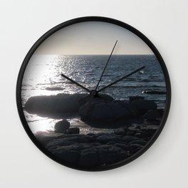 Long Range 8 (Coastal Stromatolite) Wall Clock