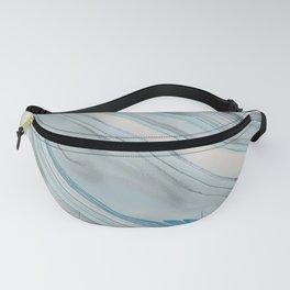 Soft Blue Aqua Marble Elegance Fanny Pack