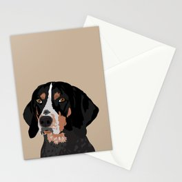 Maggie bluetick coonhound Stationery Cards