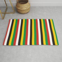 Dominica guyana flag stripes Rug