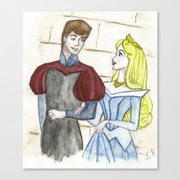 Prince and princess Canvas Print