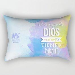 El Tiempo de Dios  Rectangular Pillow