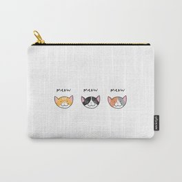 Three Meows. Carry-All Pouch