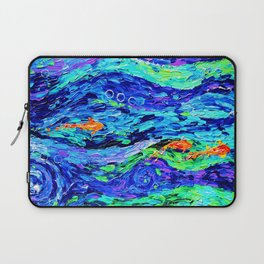 Follow the fish - abstract painting Laptop Sleeve