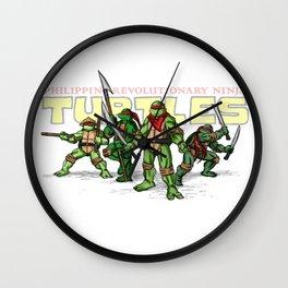 Philippine Revolutionary Ninja Turtles Wall Clock