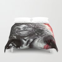 africa Duvet Covers featuring Africa by Lucy Schmidt Art