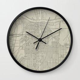 Vintage Map of Savannah Georgia (1917) Wall Clock