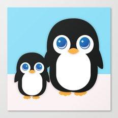 Adorable Penguins Canvas Print
