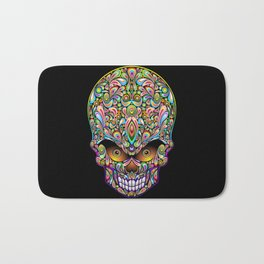 Psychedelic Skull Art Design Bath Mat