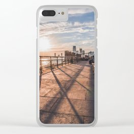Coral Sun in Battery Park, NYC Clear iPhone Case