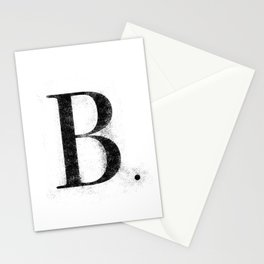 B. - Distressed Initial Stationery Cards