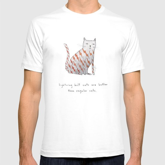 lightning bolt cats are better T-shirt