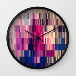 Abstract summer bright square pattern Wall Clock