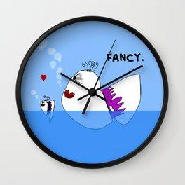 Fancy Ladies Swimming Fish - Art by Child Wall Clock