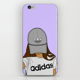 sporty girl iPhone Skin