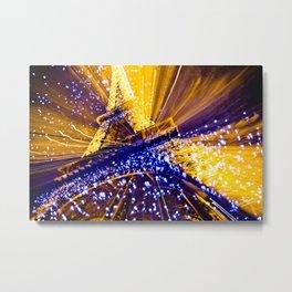 Supernova Eiffel Metal Print