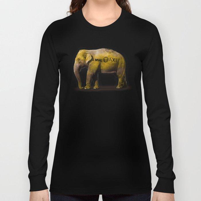 Elephant Taxi NYC Long Sleeve T-shirt
