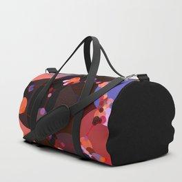 marilyn - abstract design of black pumpkin orange garnet red and pink Duffle Bag