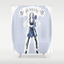 Namaste Yoga Girl Shower Curtain