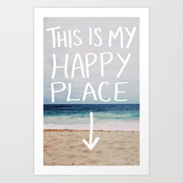 My Happy Place (Beach) Art Print