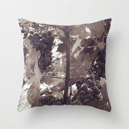 Napa Grapevine Noir Throw Pillow