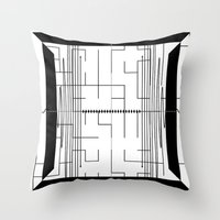 math Throw Pillows featuring Math by CrypticFragments Design