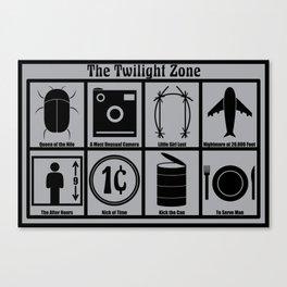 8-Episode Twilight Zone Poster Canvas Print