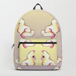 Grapefruit Cat - Linear Dodge on Gradient Backpack