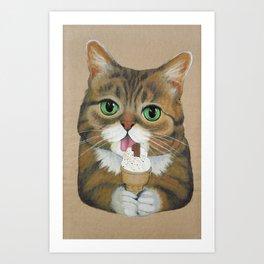 Lil Bub - famous cat Art Print