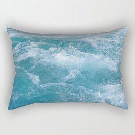Waves   Landscape Photography   Beach   Tropical   Summer   Crystal Blue Water   Ocean Rectangular Pillow