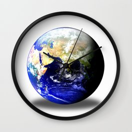 Earth Globe East Shadow Wall Clock