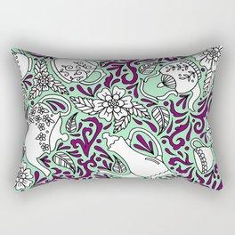 Tea Time Mint Rectangular Pillow