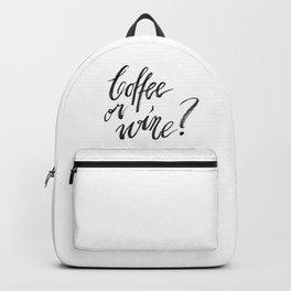 Coffee or wine? Backpack