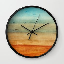 Abstract Seascape No 4: the beach Wall Clock
