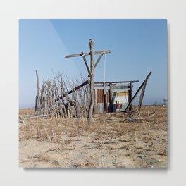 Makeshift Mexico Cross, 2007 Metal Print