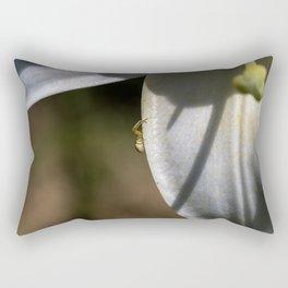Tiny spider on lily flower Rectangular Pillow