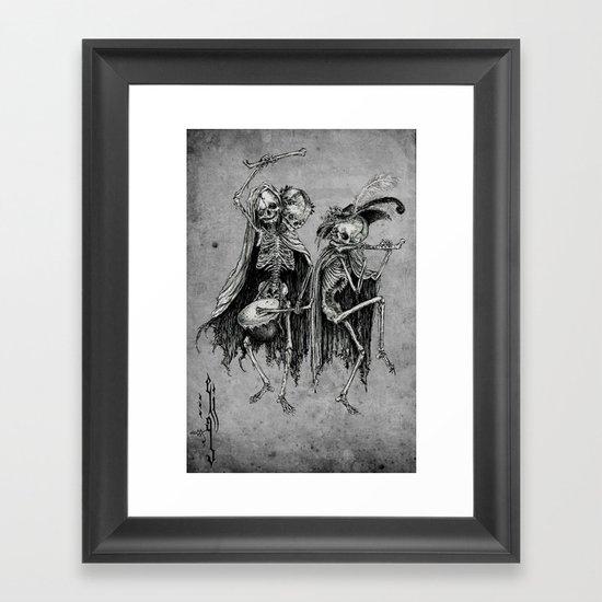 Danse Macabre (variation) Framed Art Print