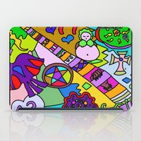 religion iPad Cases featuring Science Verses Religion by Linda Tomei