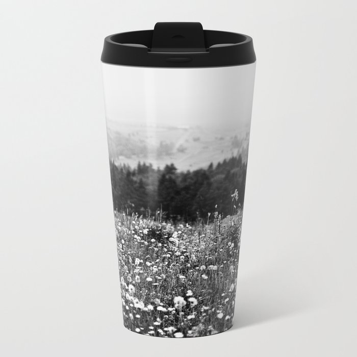 Mountain Wildflowers Metal Travel Mug