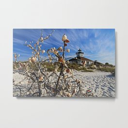 Sitting Seaside Metal Print