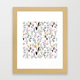 Flower Pattern Framed Art Print