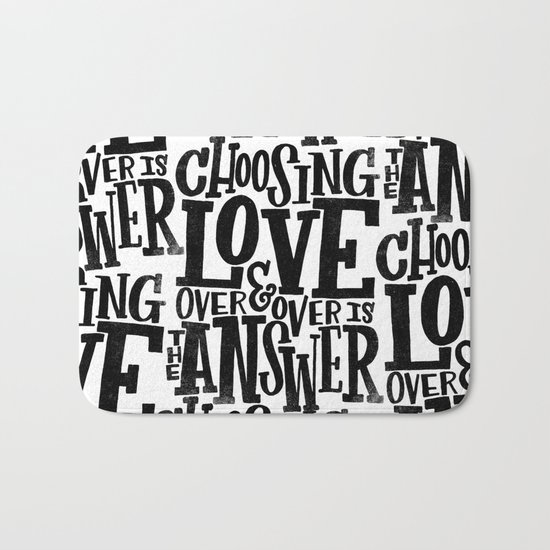 CHOOSE LOVE Bath Mat