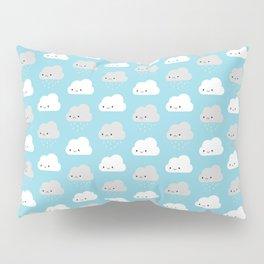 Happy and Sad Kawaii Clouds Pillow Sham
