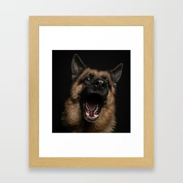 happy german Framed Art Print